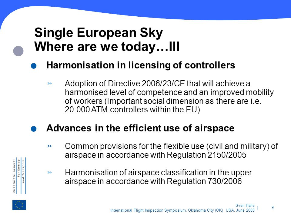 Single European Sky Where are we today…III