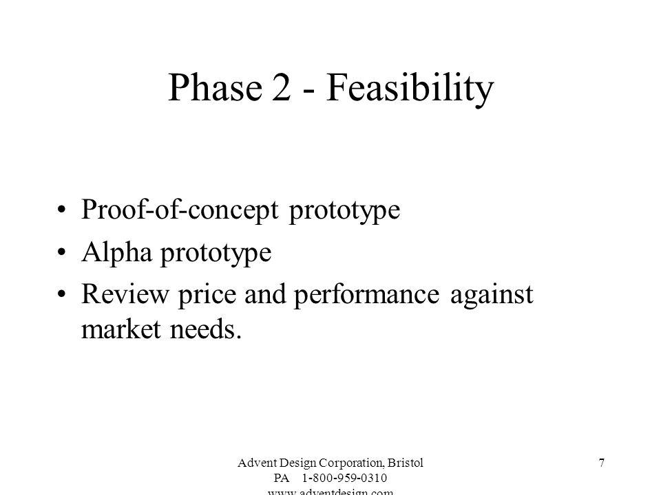 Phase 2 - Feasibility Proof-of-concept prototype Alpha prototype