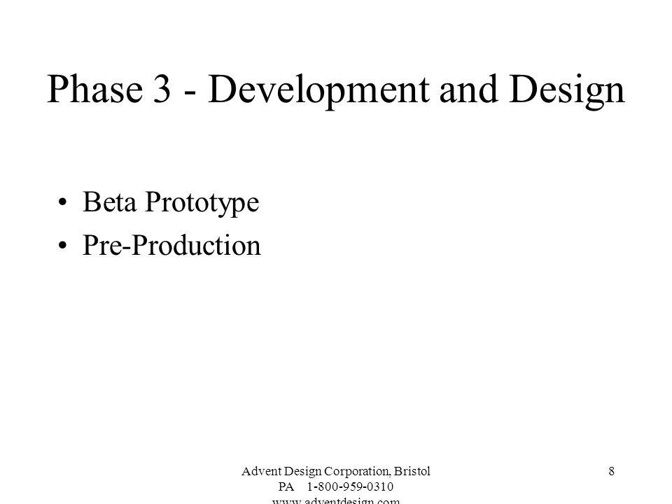 Phase 3 - Development and Design