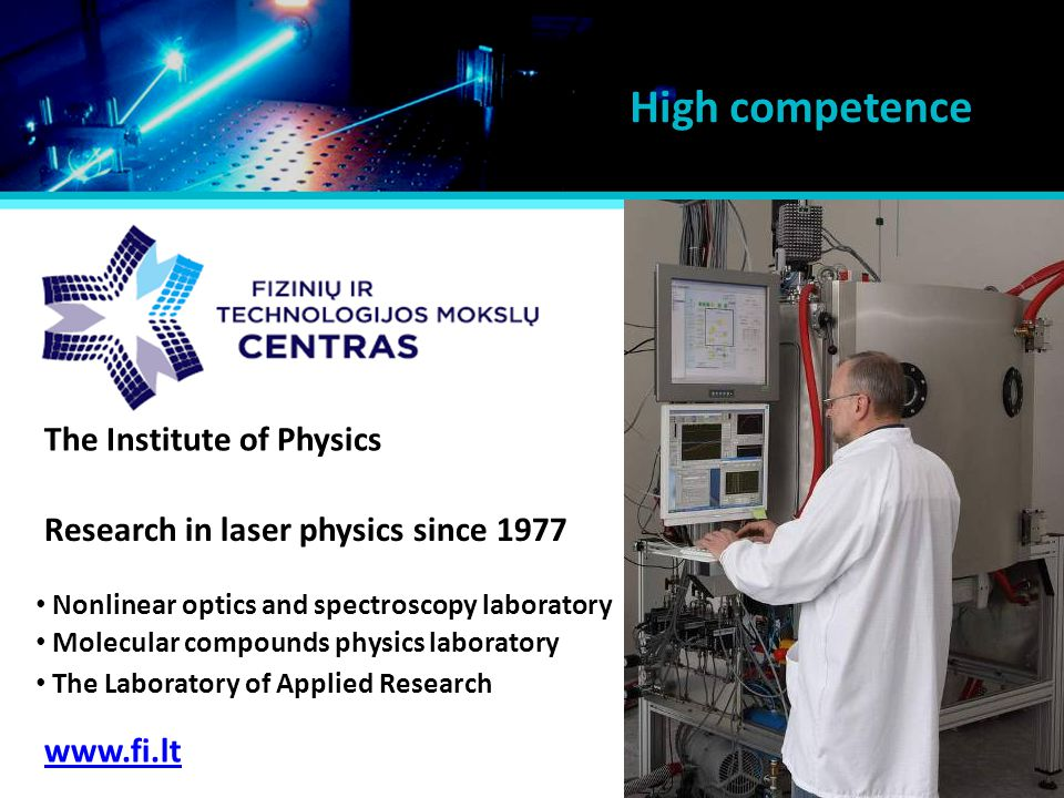 High competence The Institute of Physics