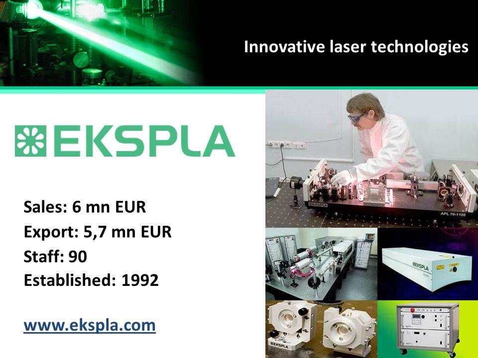 Innovative laser technologies