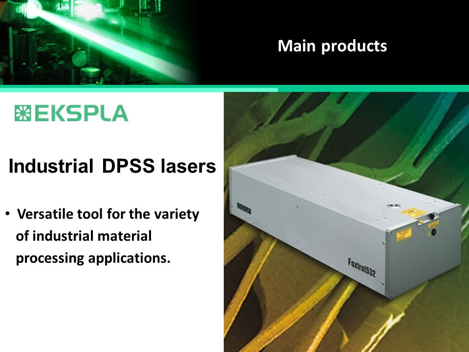Industrial DPSS lasers