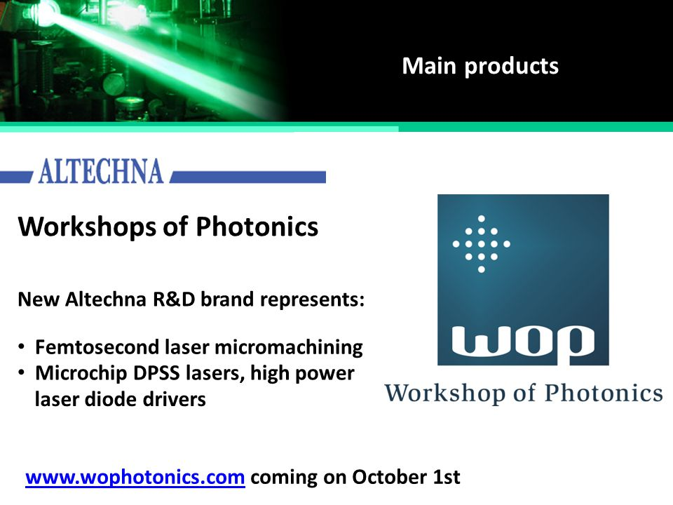 Workshops of Photonics