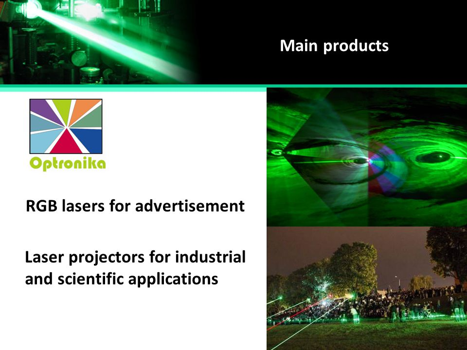 RGB lasers for advertisement