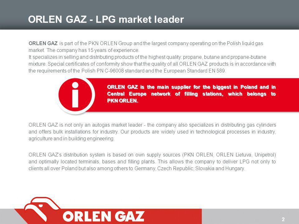 ORLEN GAZ - LPG market leader