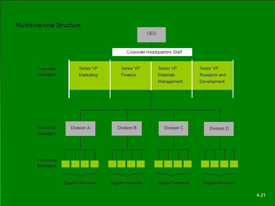 Multidivisional Structure.