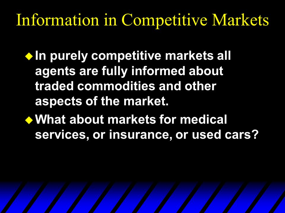 Information in Competitive Markets