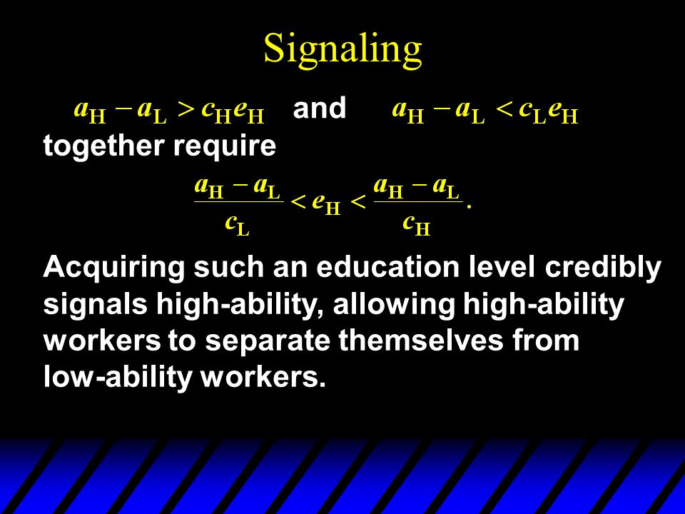 Signaling and together require