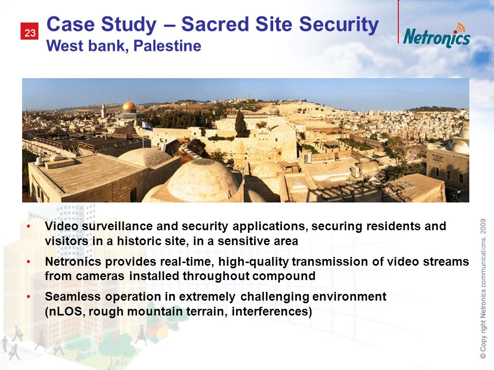 Case Study – Sacred Site Security West bank, Palestine