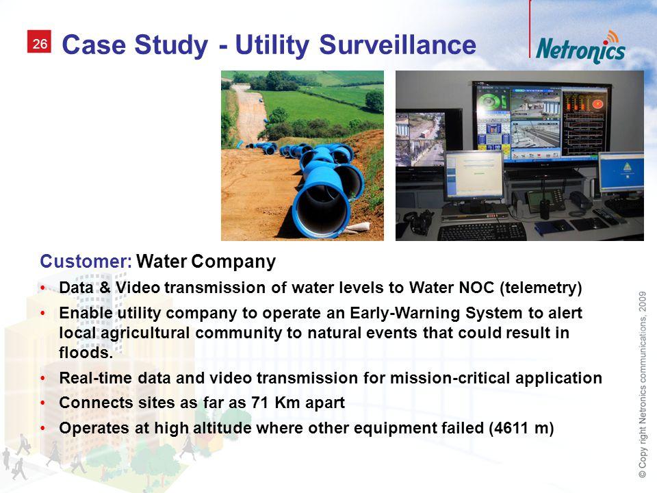 Case Study - Utility Surveillance