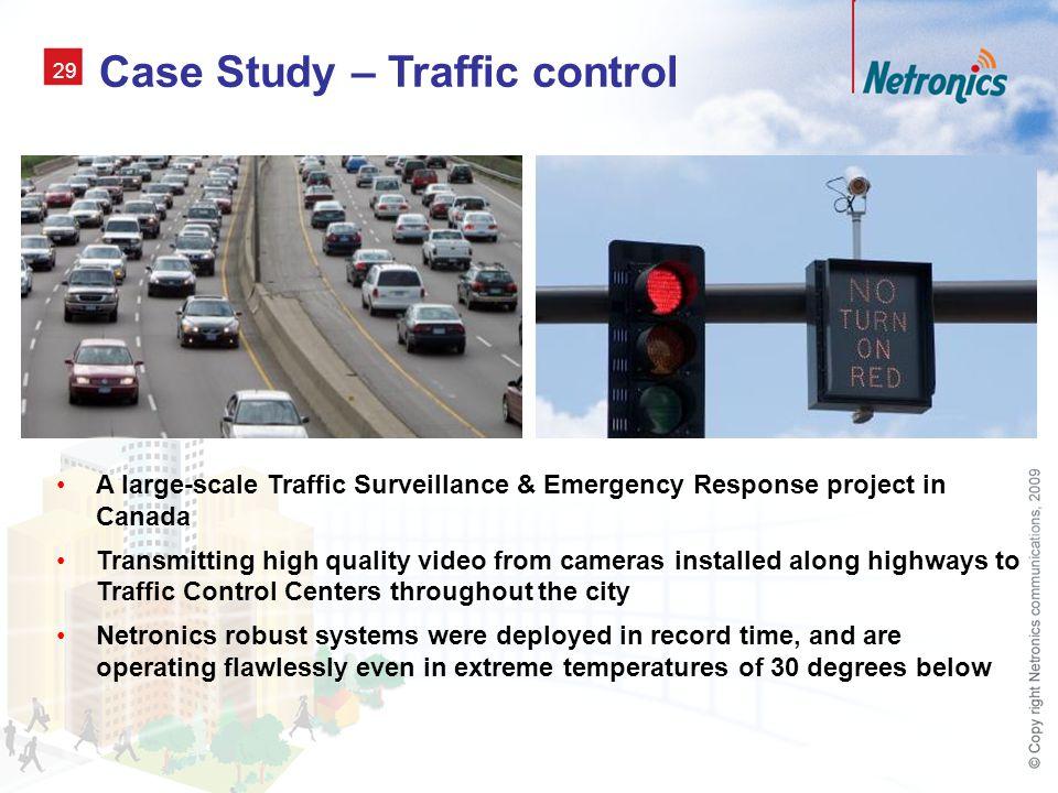 Case Study – Traffic control