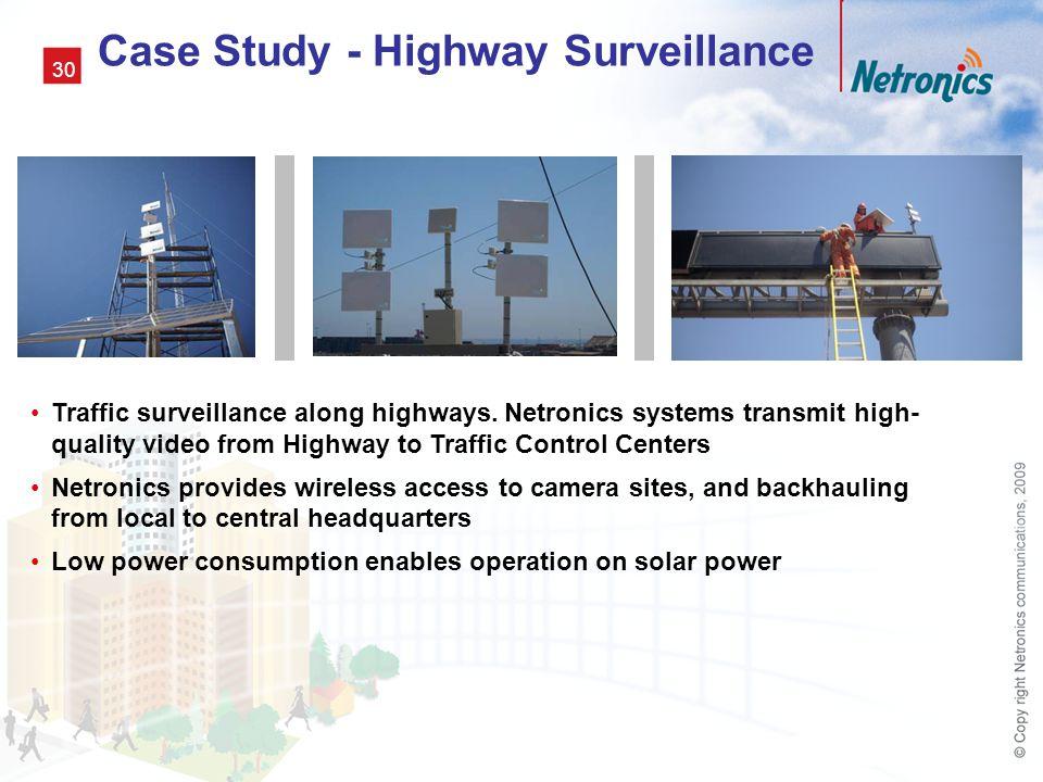 Case Study - Highway Surveillance