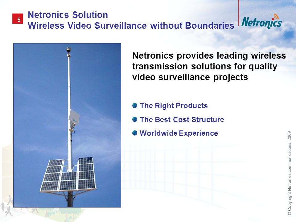 Netronics Solution Wireless Video Surveillance without Boundaries