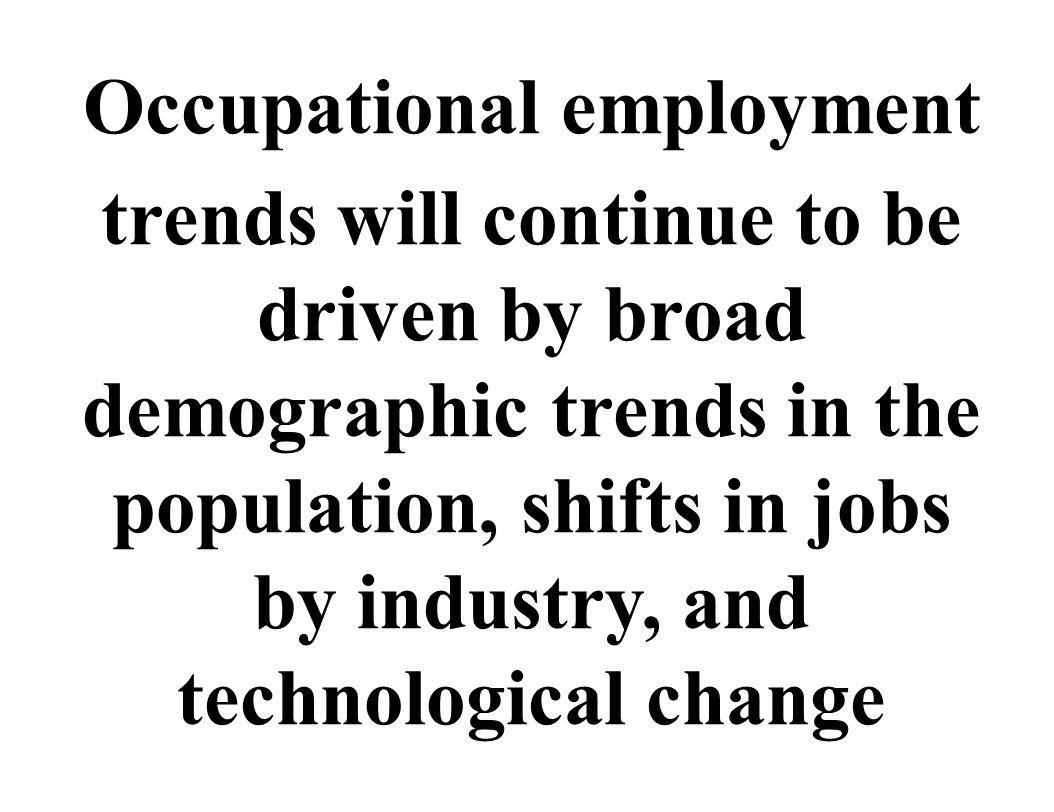Occupational employment