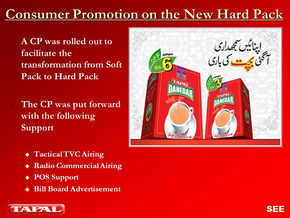 Consumer Promotion on the New Hard Pack