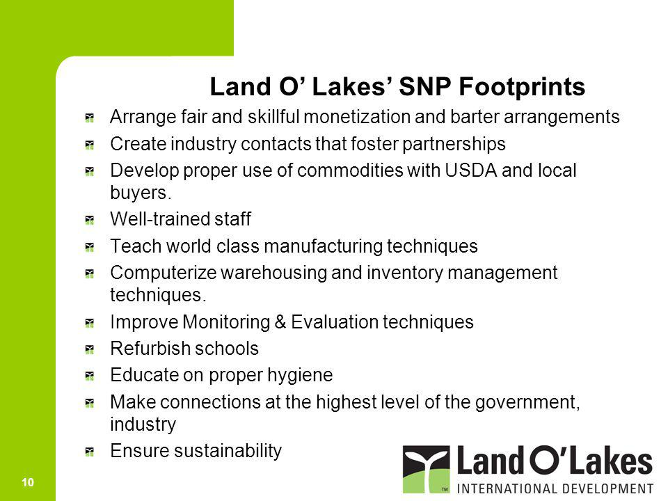Land O' Lakes' SNP Footprints