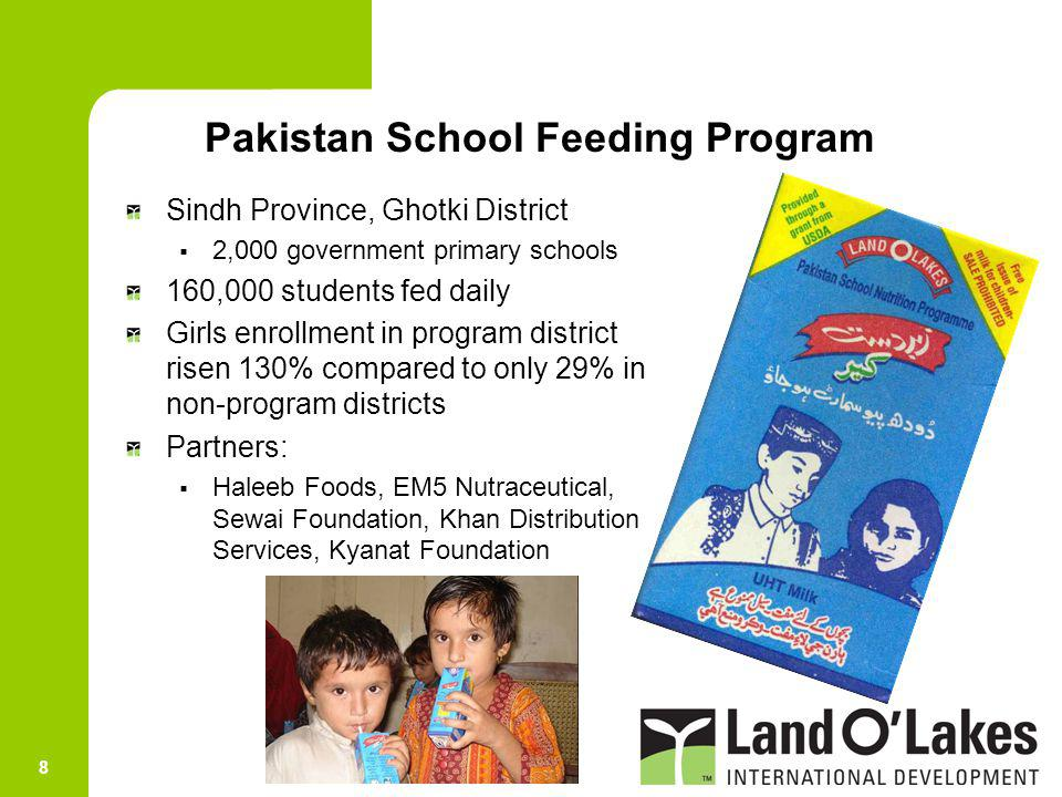Pakistan School Feeding Program