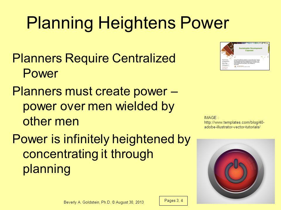 Planning Heightens Power