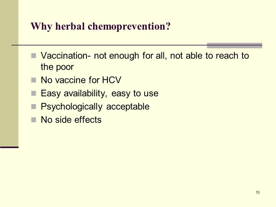 Why herbal chemoprevention