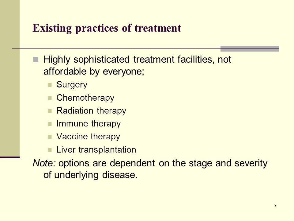 Existing practices of treatment