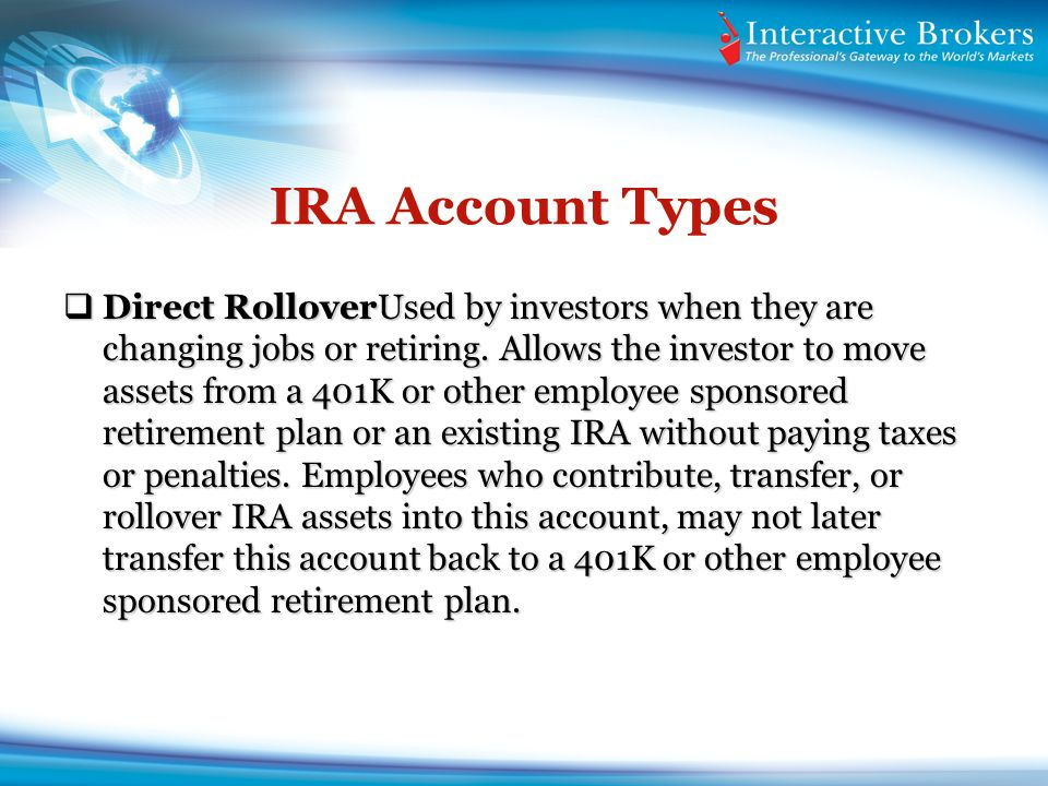 IRA Account Types