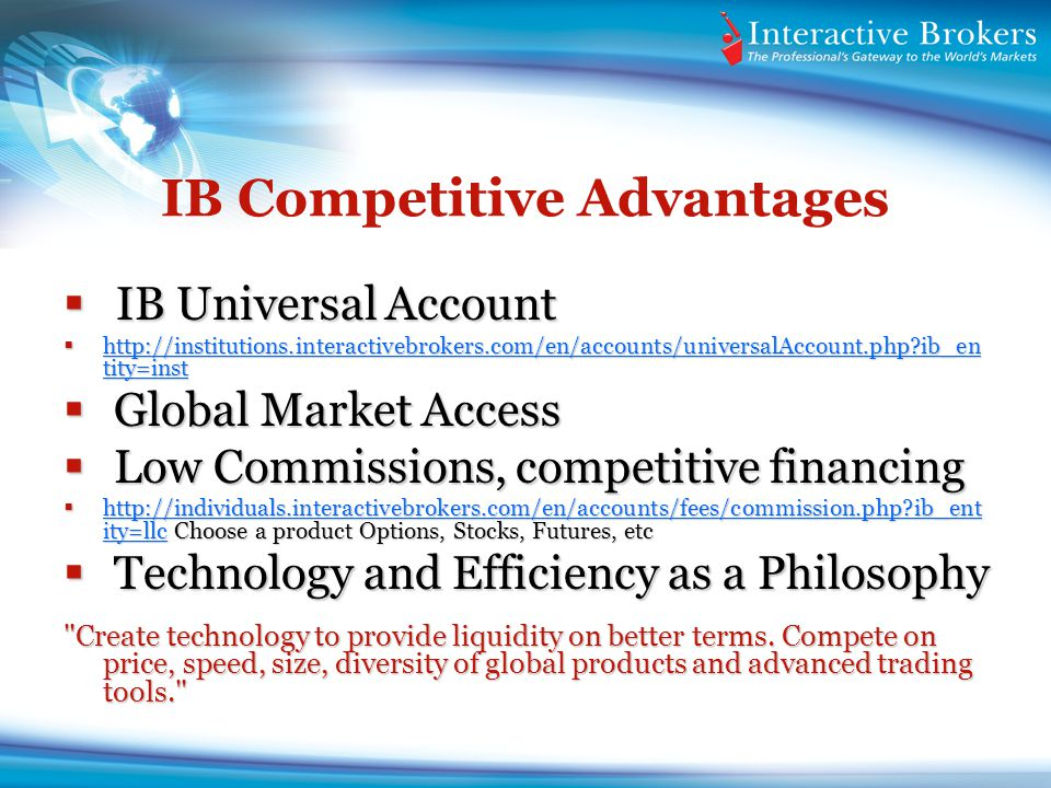 IB Competitive Advantages