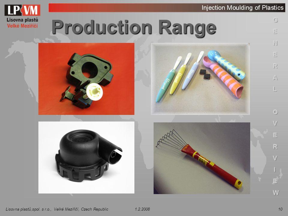 Production Range 3 3 3 3 3 3