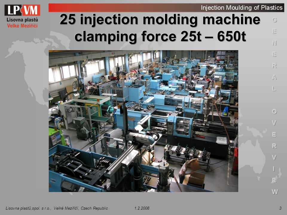 25 injection molding machine clamping force 25t – 650t
