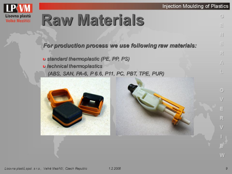 Raw Materials For production process we use following raw materials: