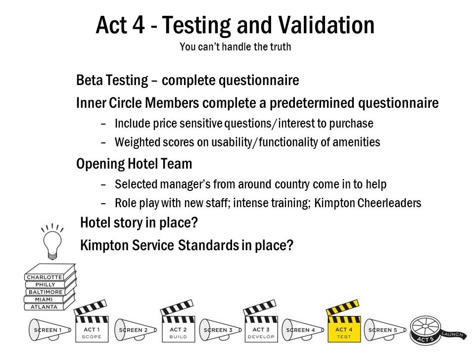 Act 4 - Testing and Validation You can't handle the truth