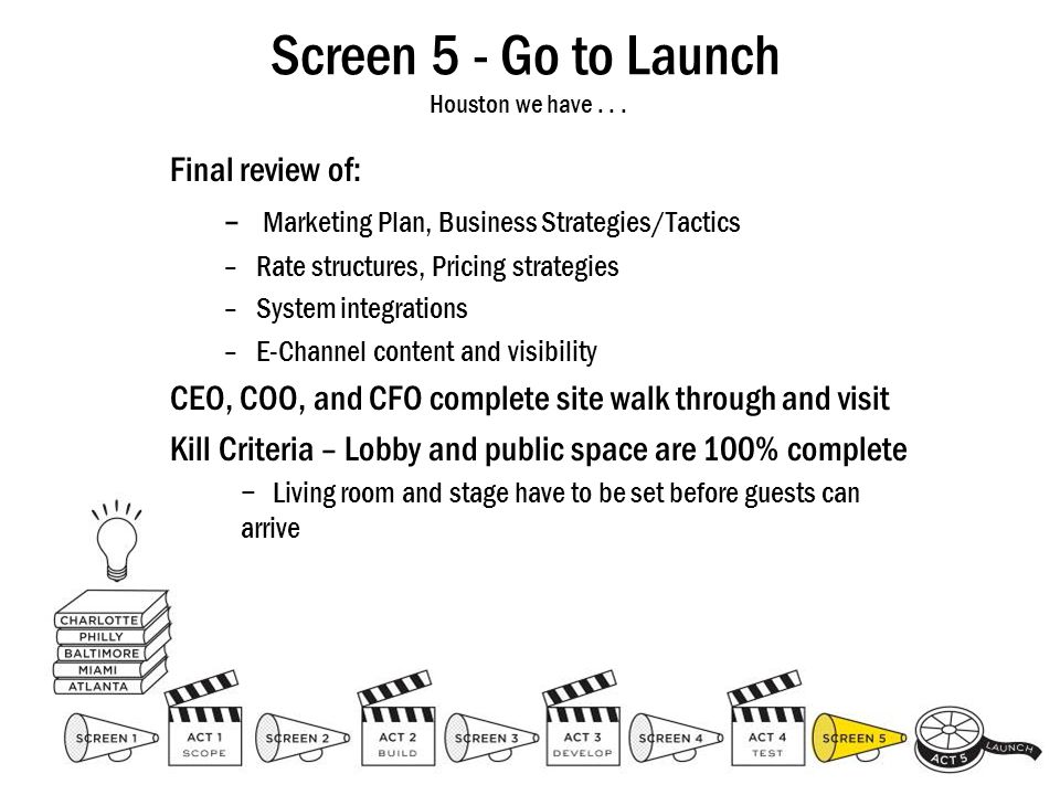 Screen 5 - Go to Launch Houston we have . . .