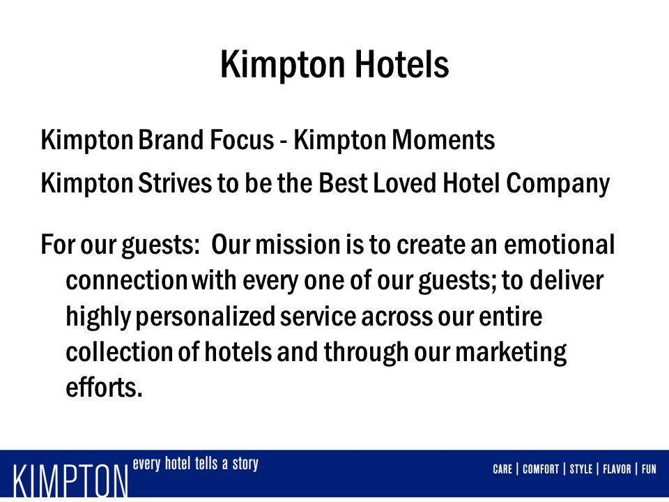 Kimpton Hotels Kimpton Brand Focus - Kimpton Moments