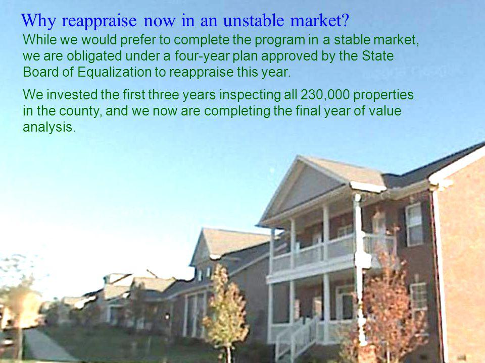 Why reappraise now in an unstable market