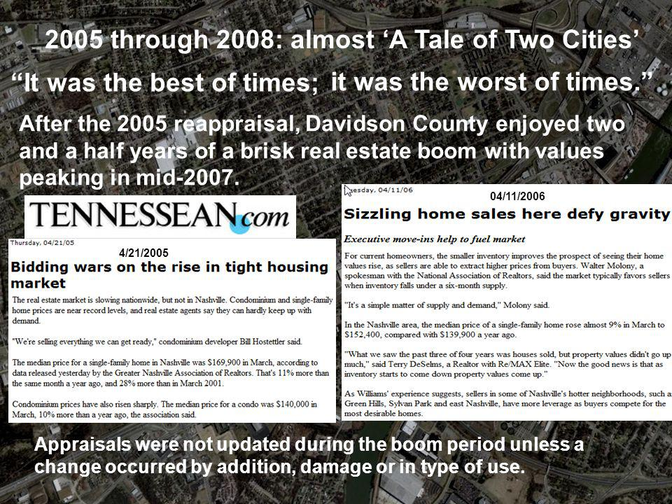 2005 through 2008: almost 'A Tale of Two Cities'