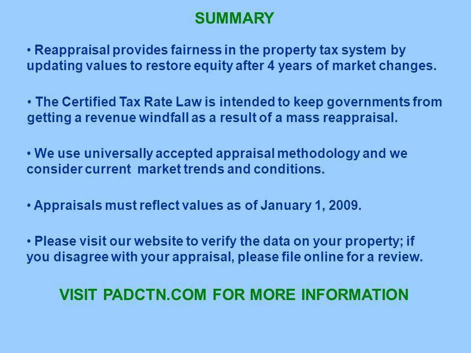 VISIT PADCTN.COM FOR MORE INFORMATION