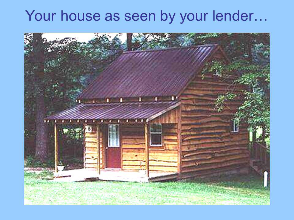 Your house as seen by your lender…