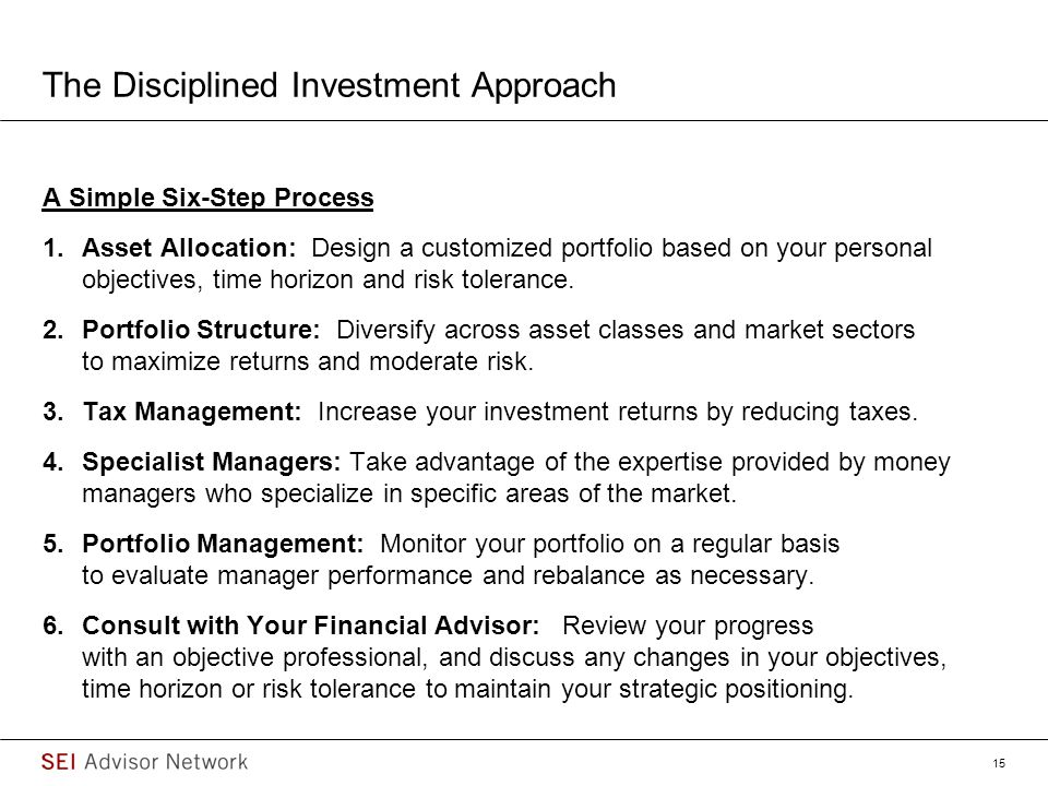 The Disciplined Investment Approach