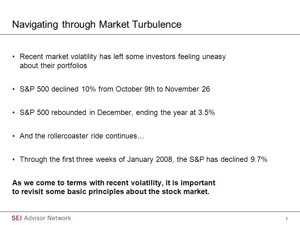 Navigating through Market Turbulence