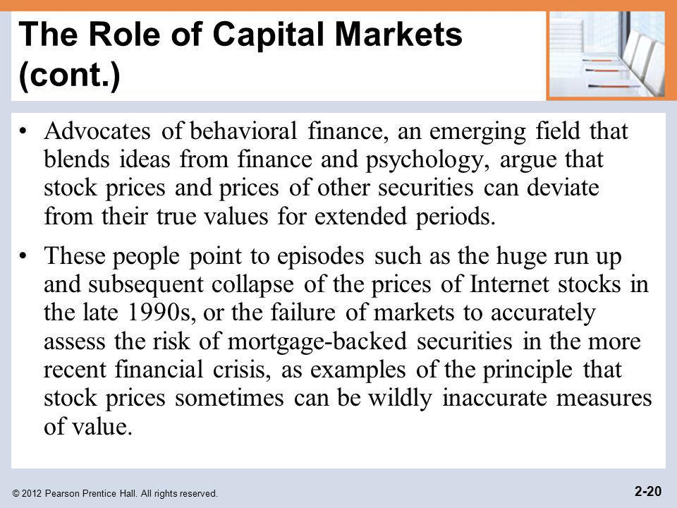 The Role of Capital Markets (cont.)
