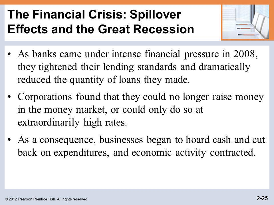 The Financial Crisis: Spillover Effects and the Great Recession