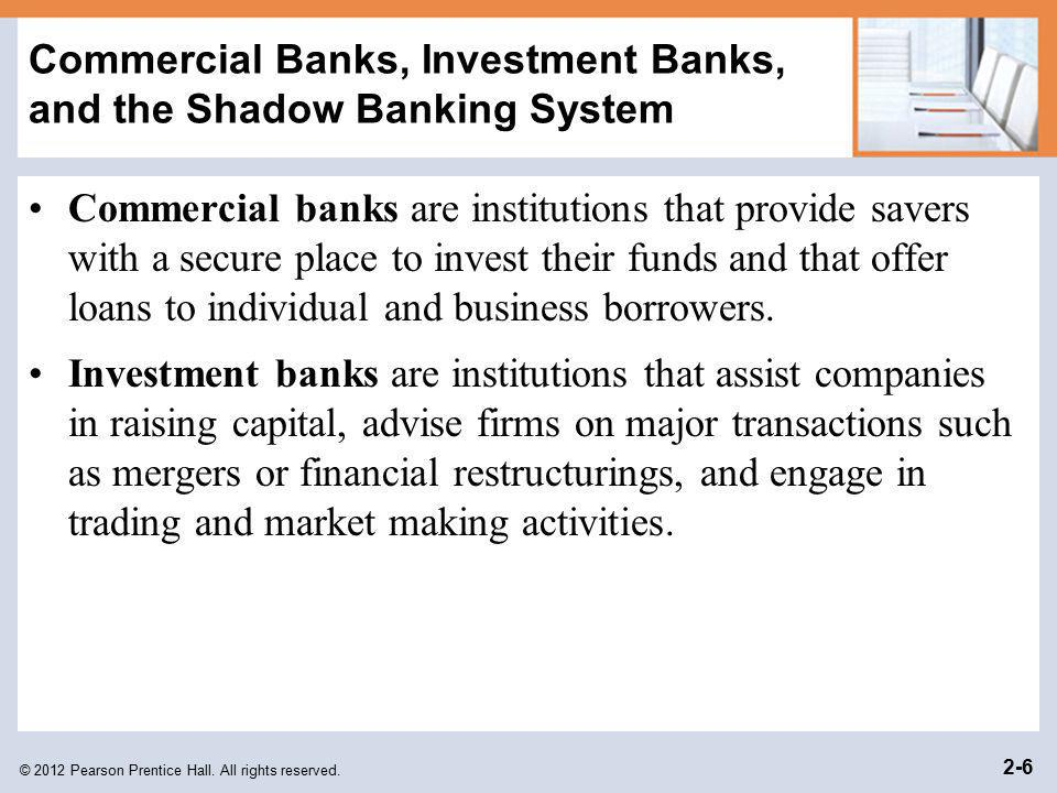 Commercial Banks, Investment Banks, and the Shadow Banking System