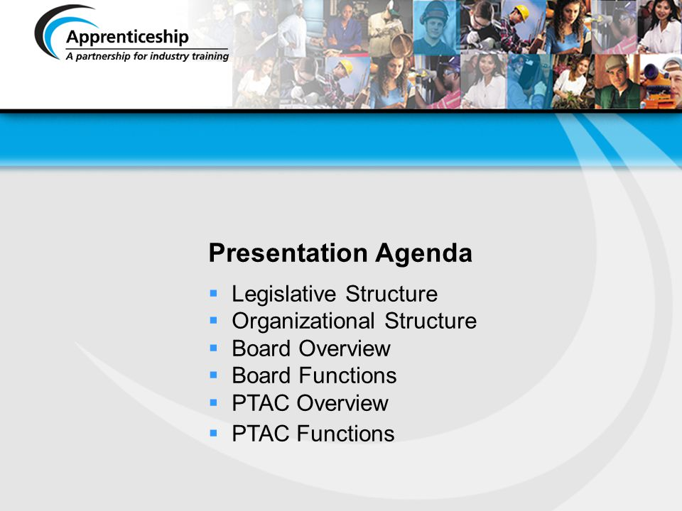 Presentation Agenda Legislative Structure Organizational Structure