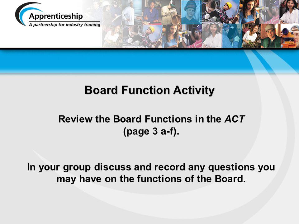 Board Function Activity