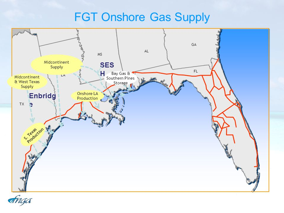 FGT Onshore Gas Supply SESH Enbridge GA AL MS Midcontinent Supply FL