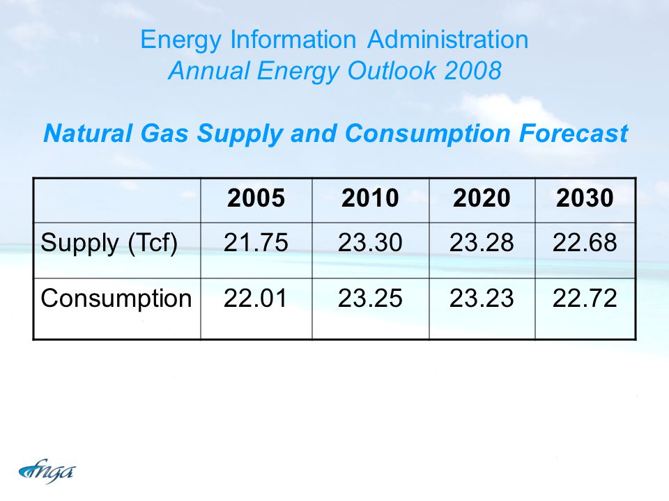 Energy Information Administration Annual Energy Outlook 2008 Natural Gas Supply and Consumption Forecast