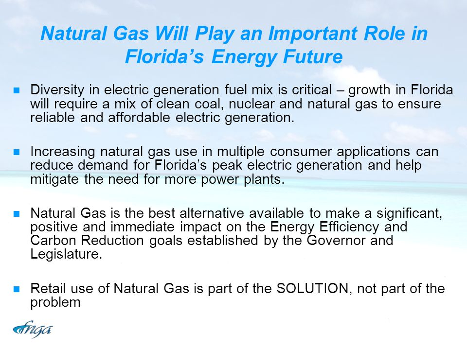 Natural Gas Will Play an Important Role in Florida's Energy Future