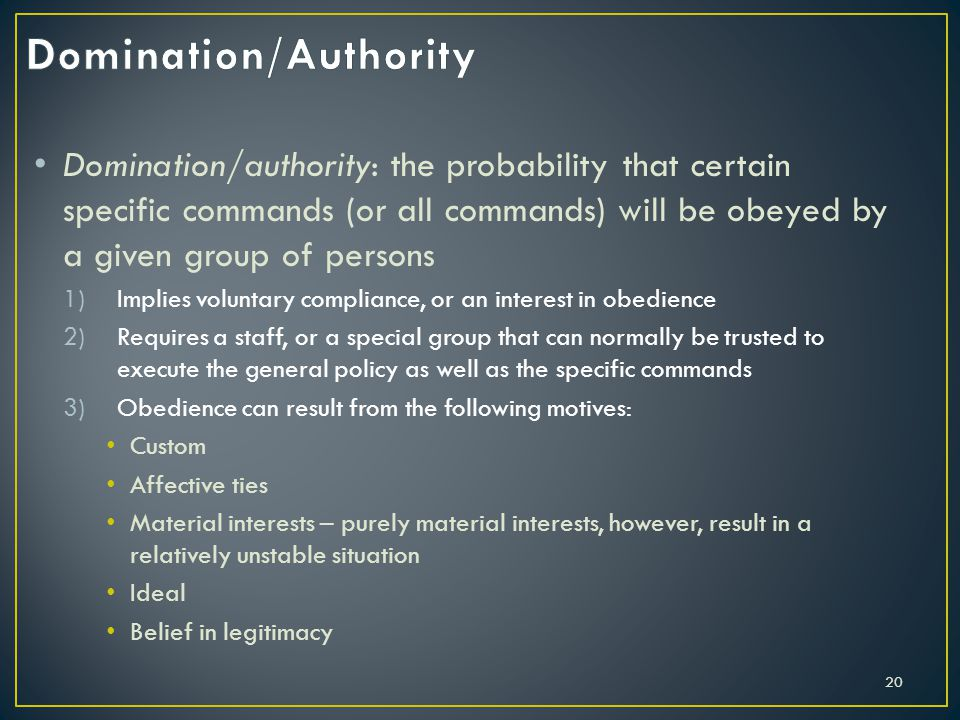Domination/Authority