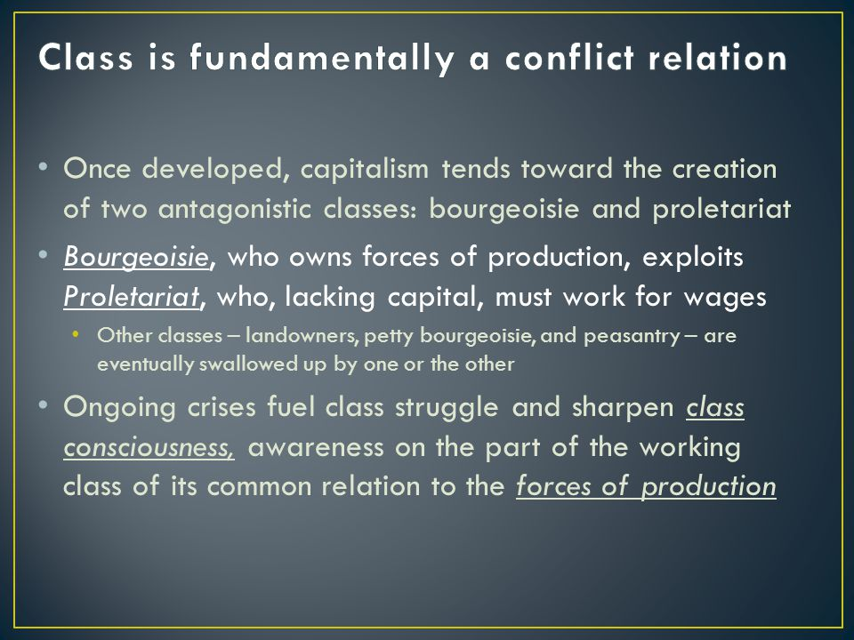 Class is fundamentally a conflict relation