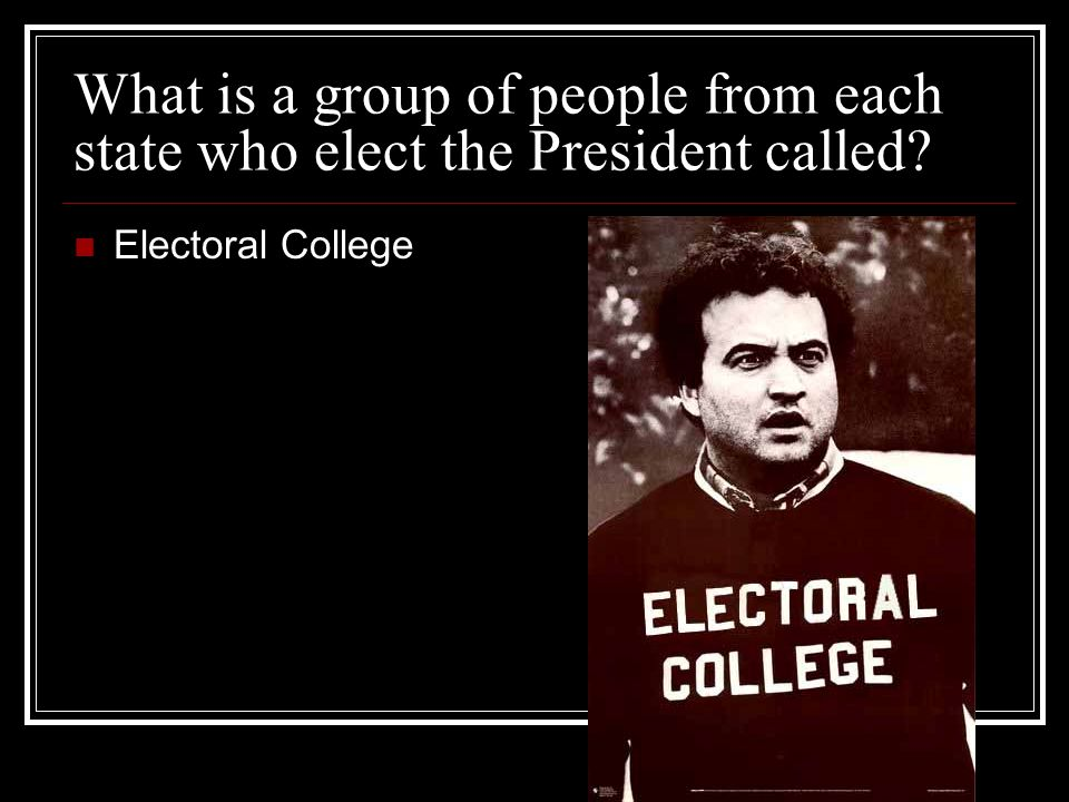 What is a group of people from each state who elect the President called