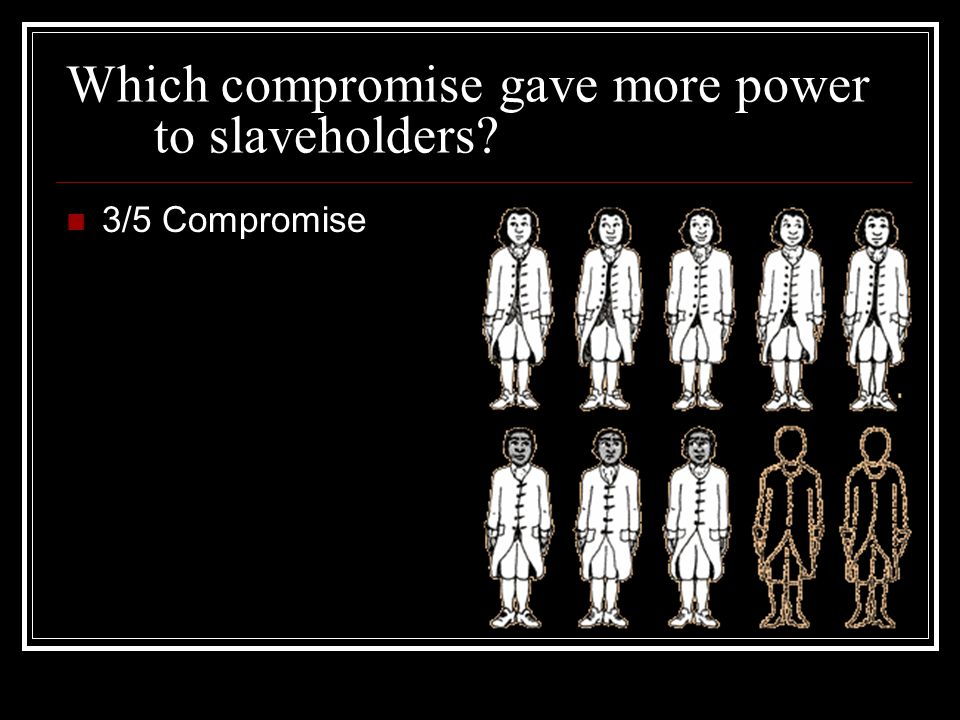 Which compromise gave more power to slaveholders